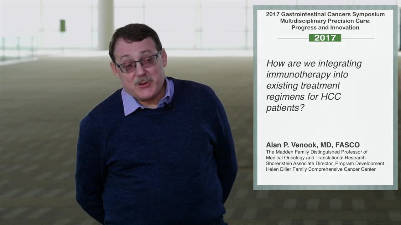 How are we integrating immunotherapy into existing treatment for HCC patients