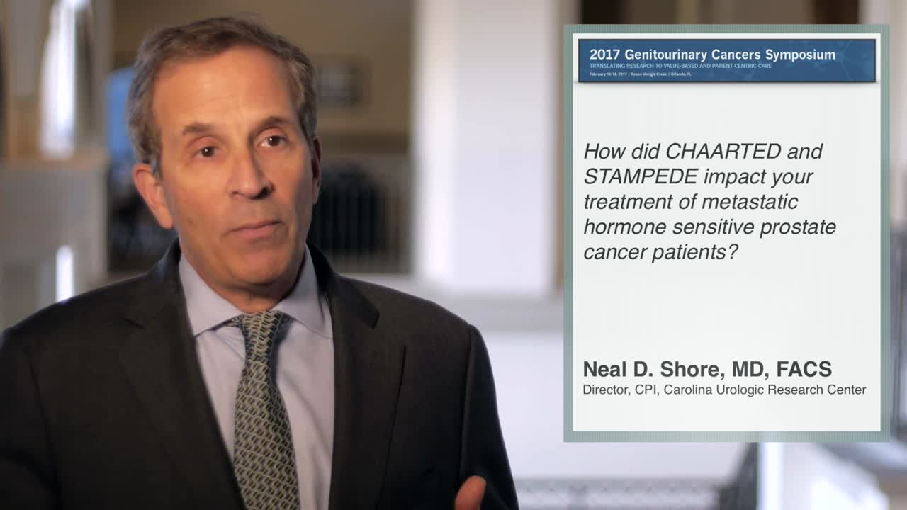 How did CHAARTED and STAMPEDE impact your treatment of metastatic hormone sensitive prostate cancer patients?