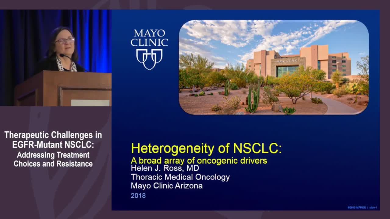 Heterogeneity of NSCLC and precipitating oncogenic driver mutations