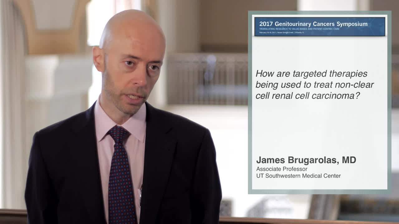How are targeted therapies being used to treat non-clear cell renal cell carcinoma?