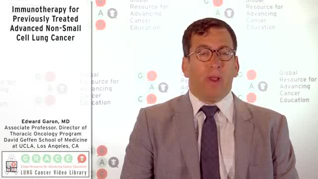 Immunotherapy for Previously Treated Advanced Non-Small Cell Lung Cancer [360p]