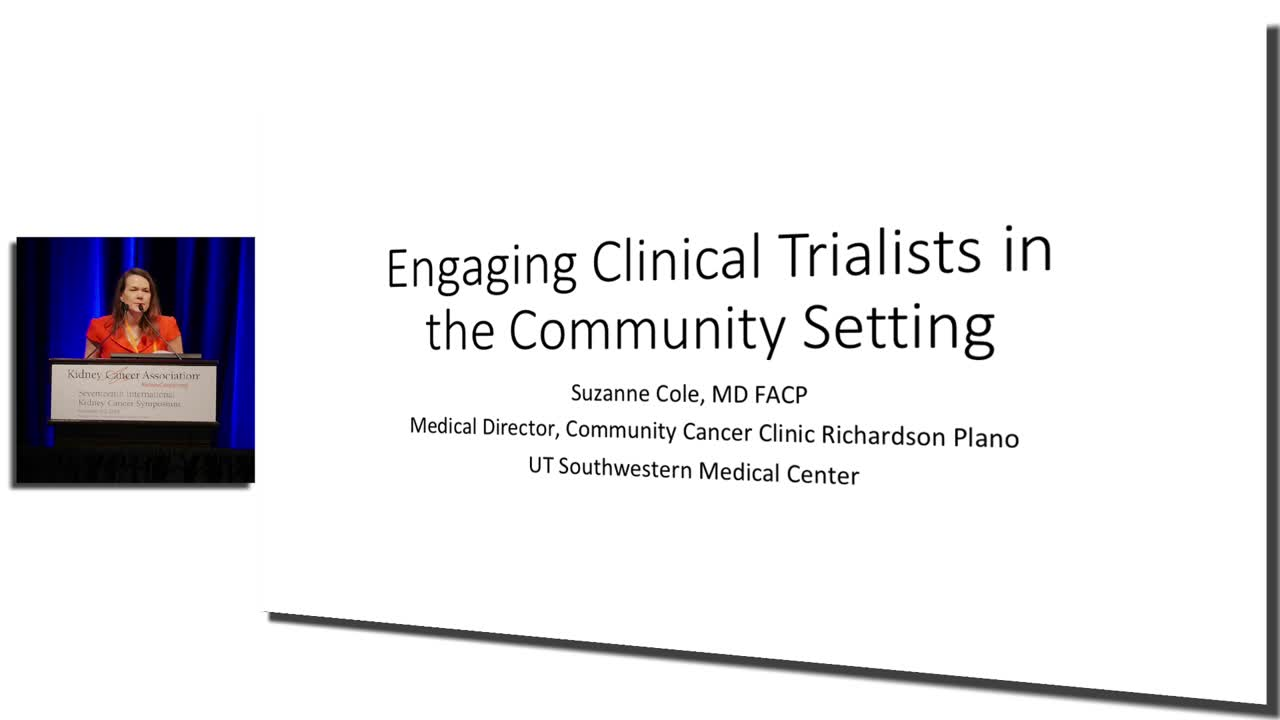 Engaging Clinical Trialists in the Community Setting