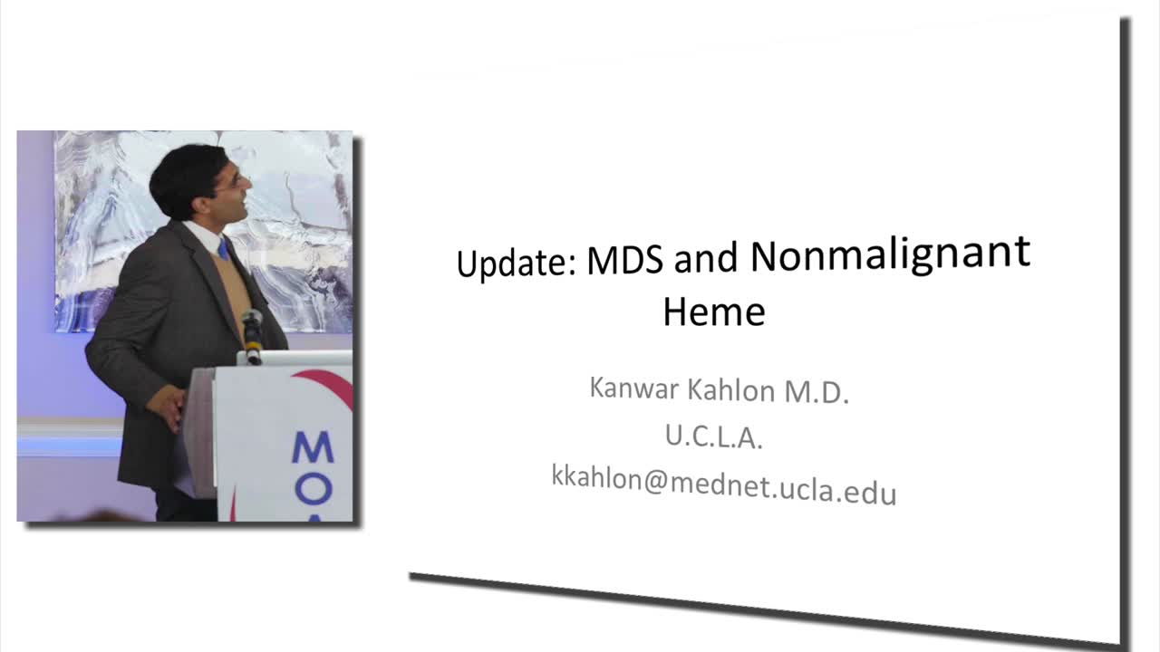 Update MDS and Nonmalignant Heme