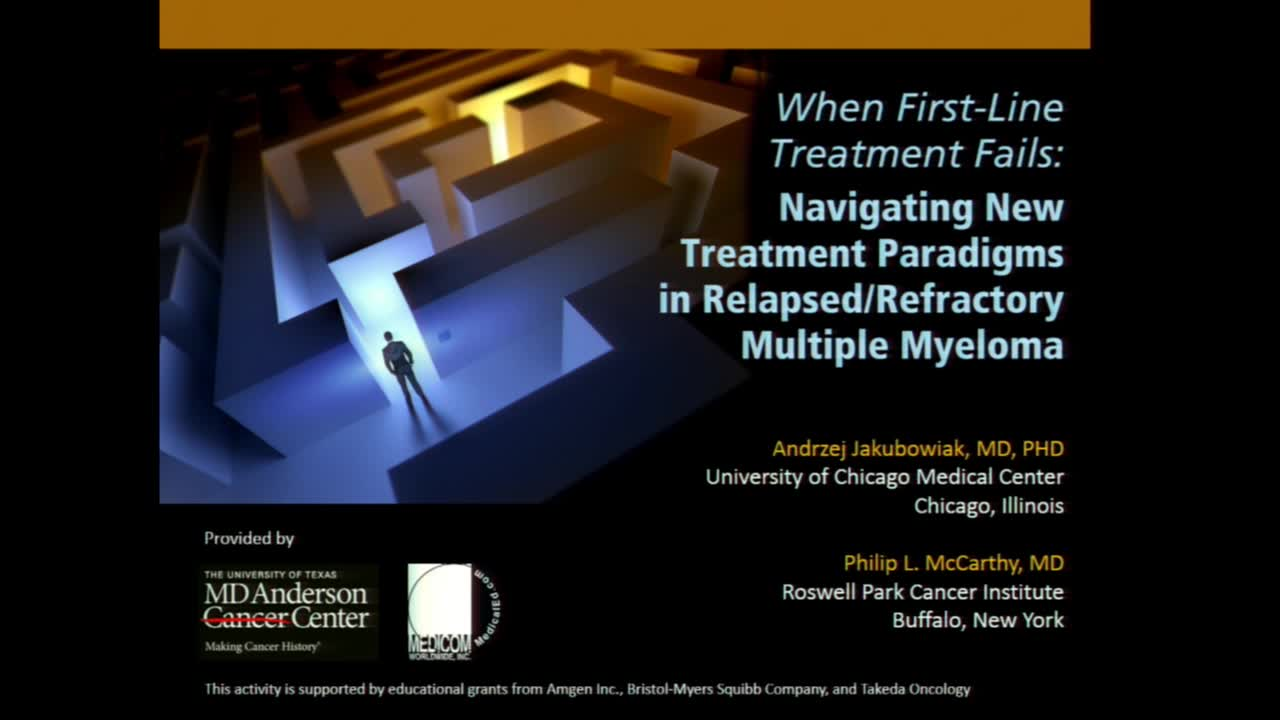 Navigating New Treatment Paradigms in Relapsed/Refractory Multiple Myeloma: Part I