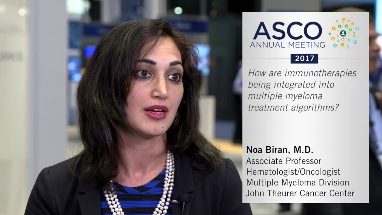 How are immunotherapies being integrated into multiple myeloma treatment algorithms
