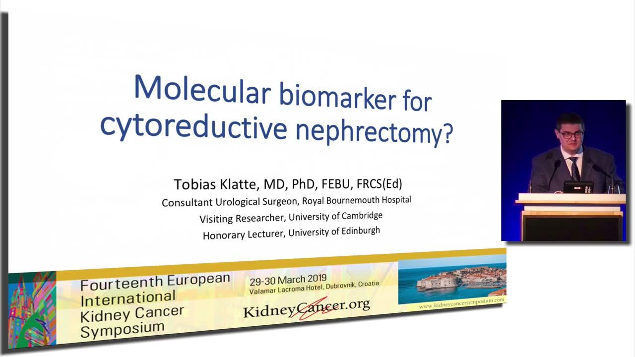 Molecular biomarker for cytoreductive nephrectomy?