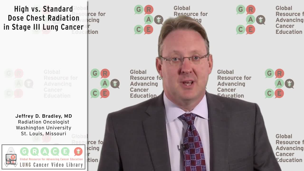 High vs. Standard Dose Chest Radiation in Stage III Lung Cancer [720p]
