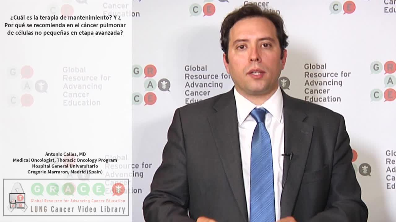 ¿Cuál es la terapia de mantenimiento? Y ¿Por qué se recomienda en el cáncer pulmonar de células no pequeñas en etapa avanzada?