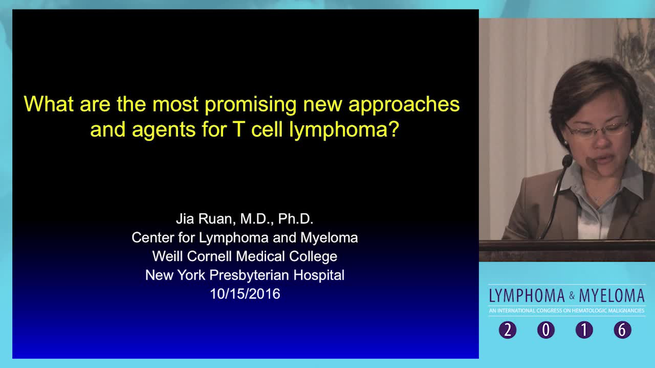 What are the most promising new approaches and agents for T cell lymphoma?