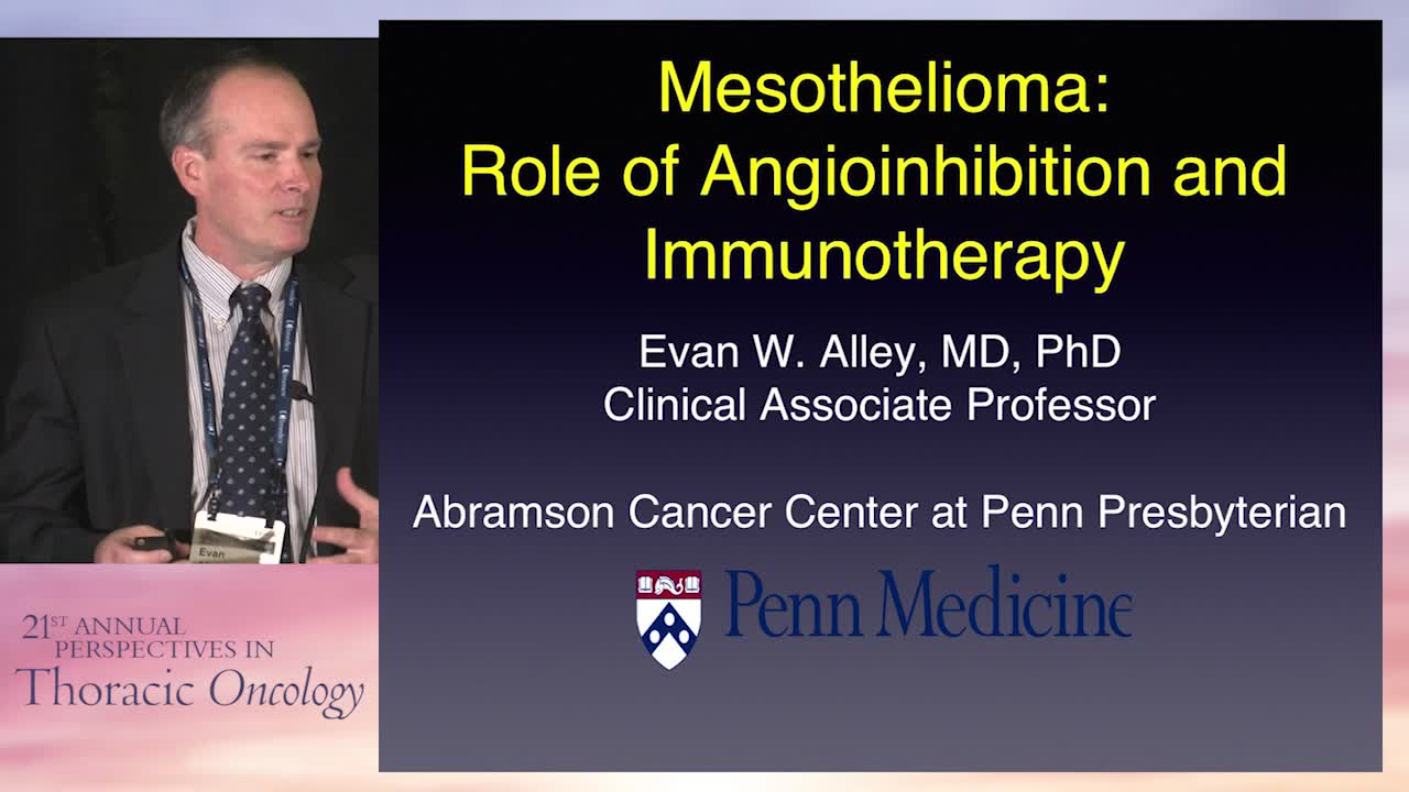 Mesothelioma: Role of angioinhibition and immunotherapy