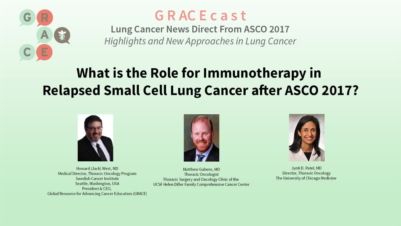 What is the role for Immunotherapy in Relapsed Small Cell Lung Cancer after ASCO 2017_ [720p]