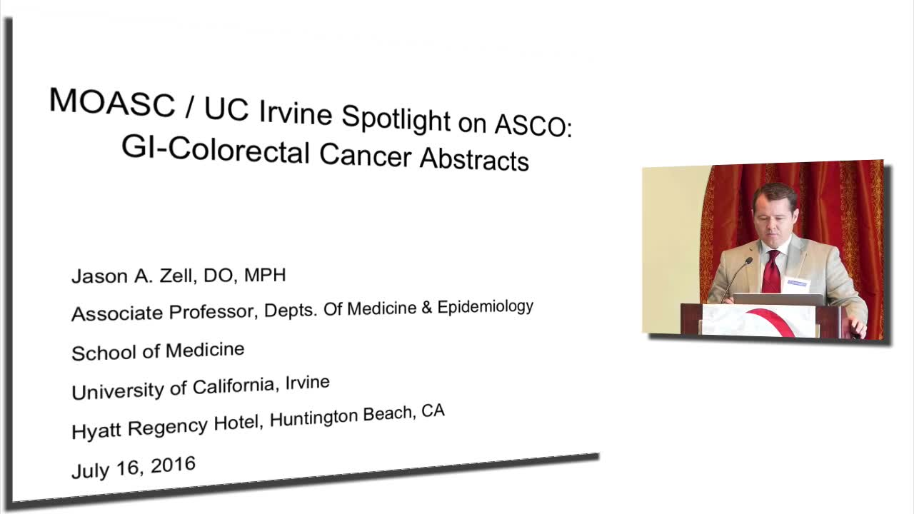 ASCO: GI-Colorectal Cancer Abstracts