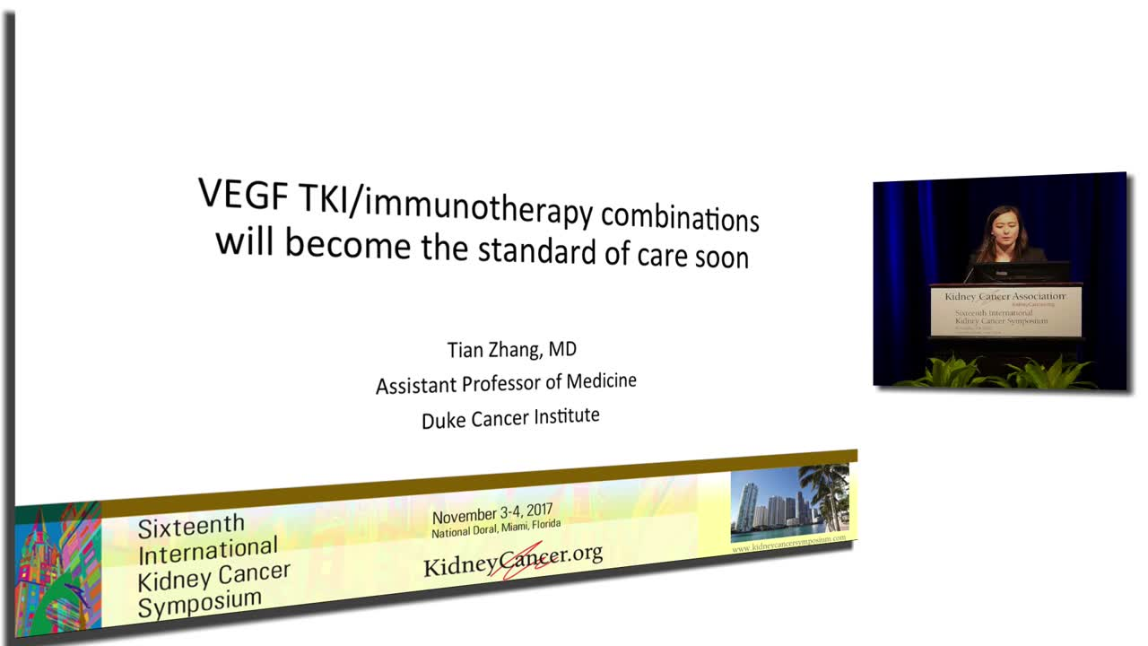 VEGF TKI immunotherapy combinations will become the standard of care soon