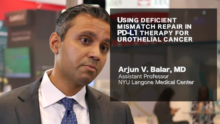 Using deficient mismatch repair in PD-L1 therapy for urothelial cancer