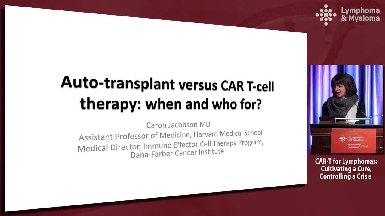Auto-transplant vs CAR-T: How should we sequence the therapy; who should receive therapy?