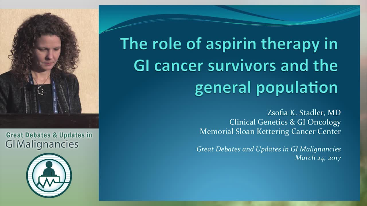 Update: The role of aspirin therapy in GI cancer survivors and the general population