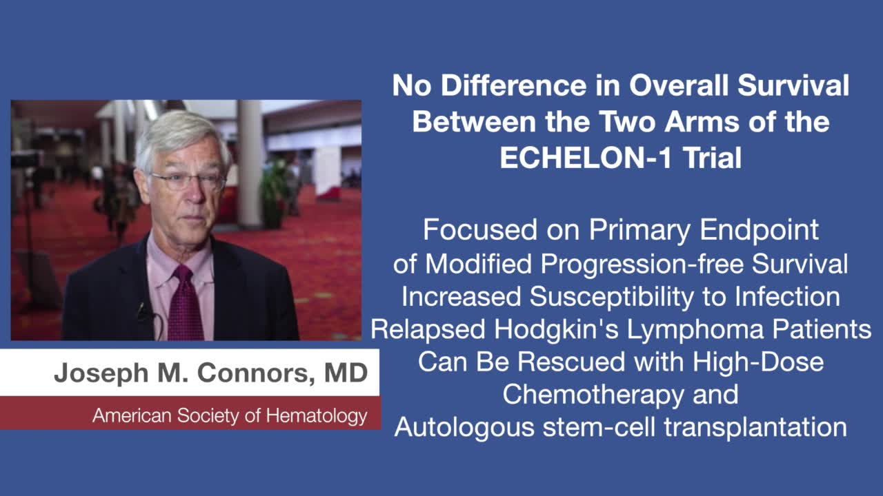 No Difference in Overall Survival Between the Two Arms of the  ECHELON-1 Trial