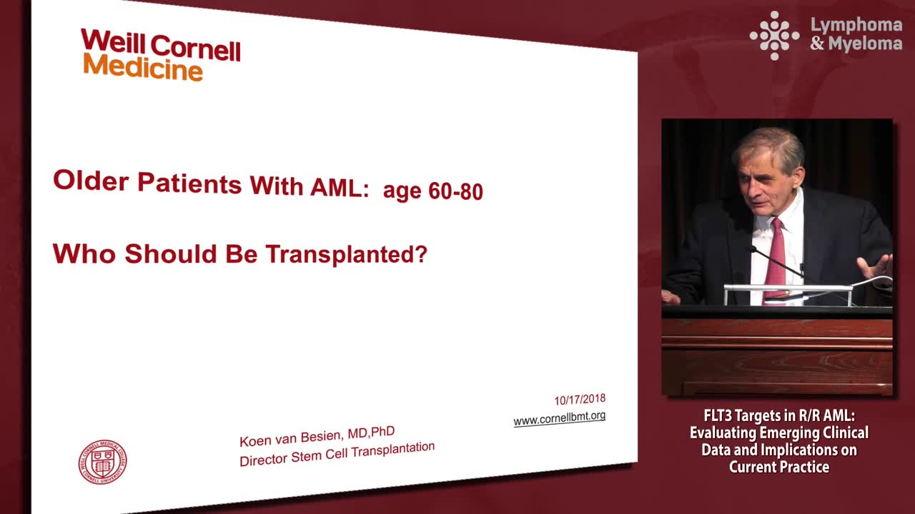 AML 60-80 years: Who should get an allo transplant?