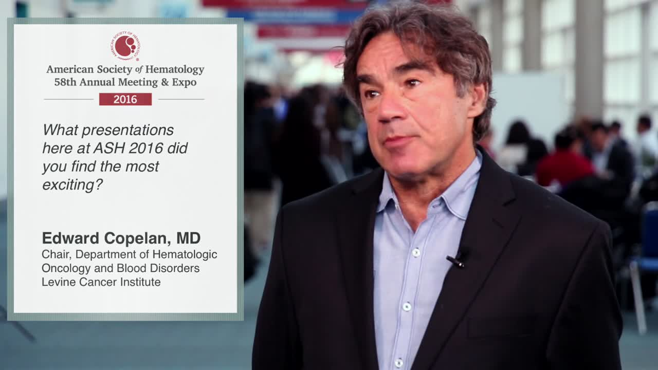 Edward Copelan, MD, on the most exciting presentations coming out of ASH 2016