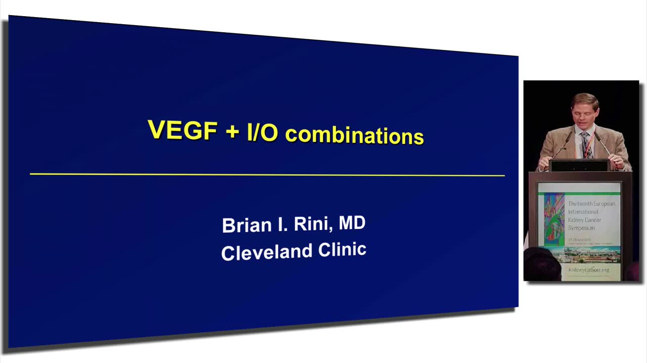 VEGF + I/O combinations in Renal Cell Carcinoma