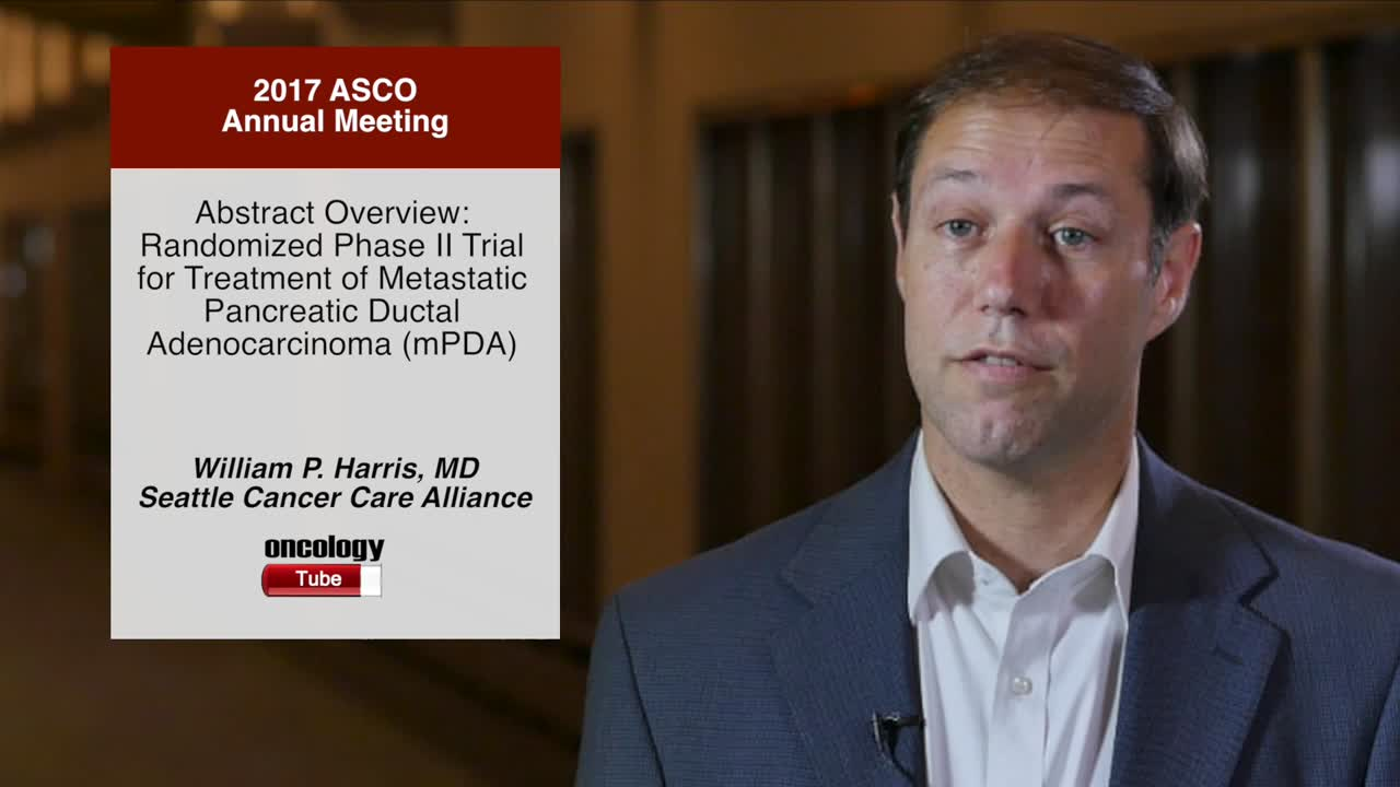 Abstract Overview: Randomized Phase II Trial for Treatment of Metastatic Pancreatic Ductal Adenocarcinoma (mPDA)