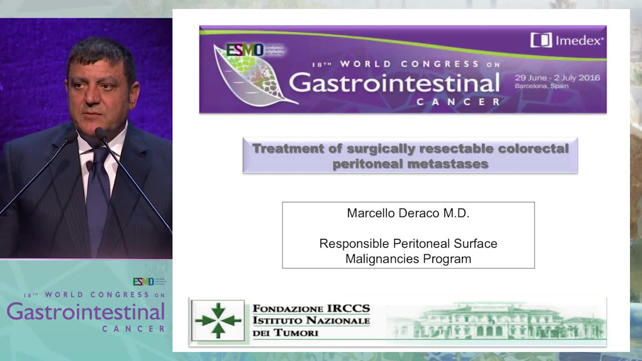Treatment of surgically resectable colorectal peritoneal metastases