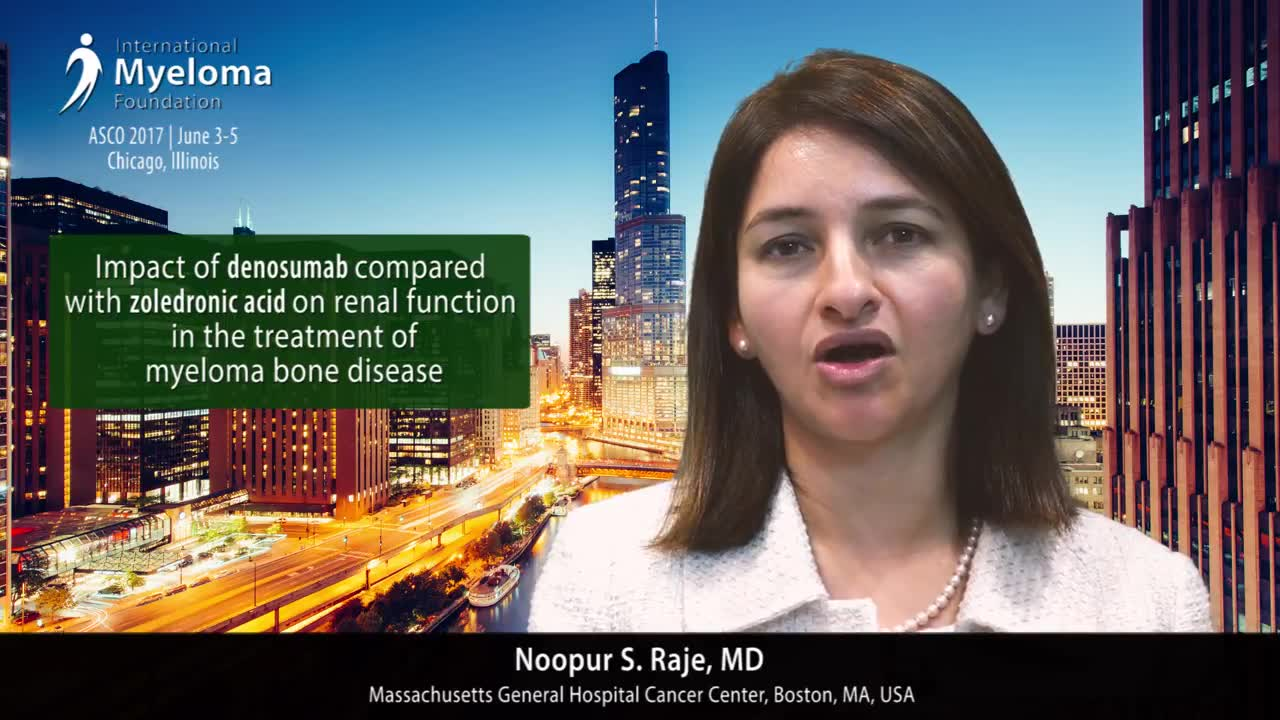 ASCO 2017- Denosumab compared with zoledronic acid on renal function in the treatment of myeloma bone disease