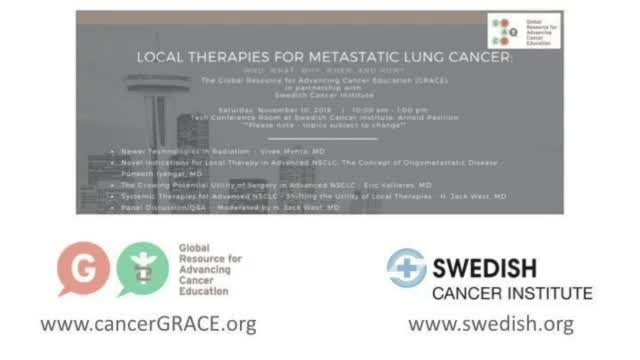 OncTalk 2018 - Novel Indications for Local Therapy in Adv NSCLC - Local Therapies for Metastatic LC