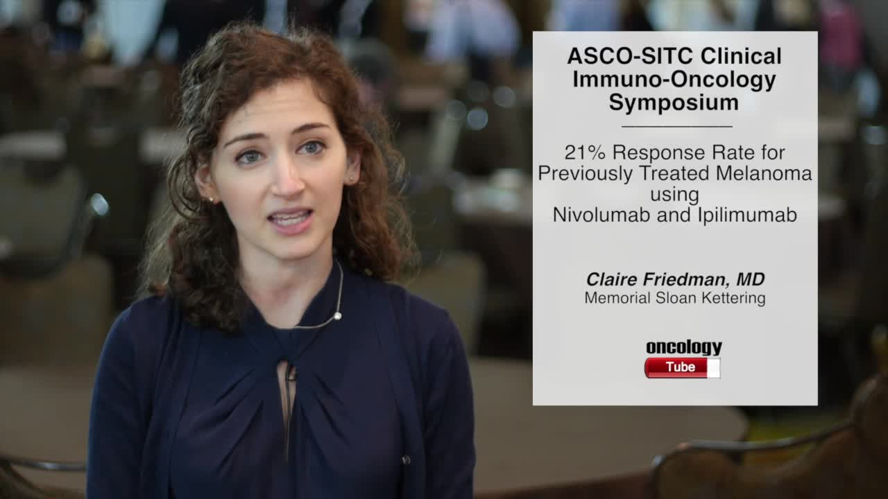 21% Response Rate for Previously Treated Melanoma Using Nivolumab and Ipilimumab