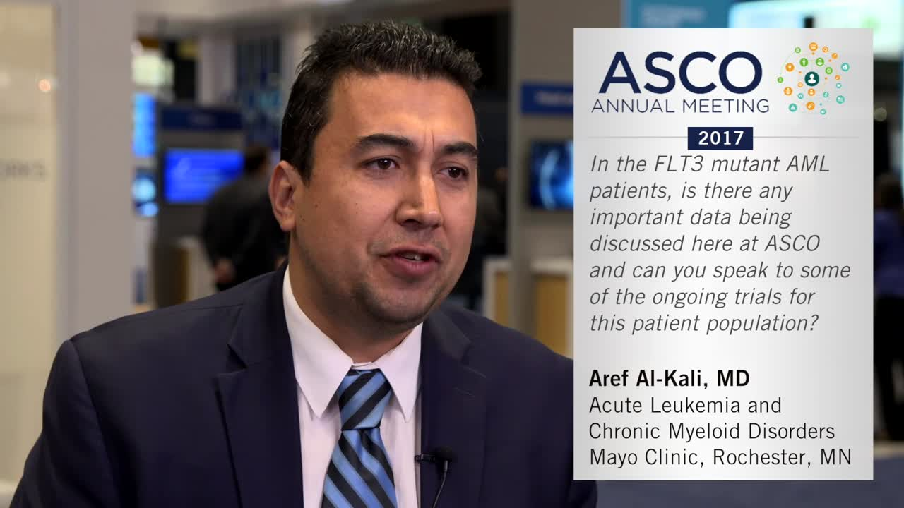 In the FLT3 mutant AML patients, is there any important data being discussed here at Annual Meeting