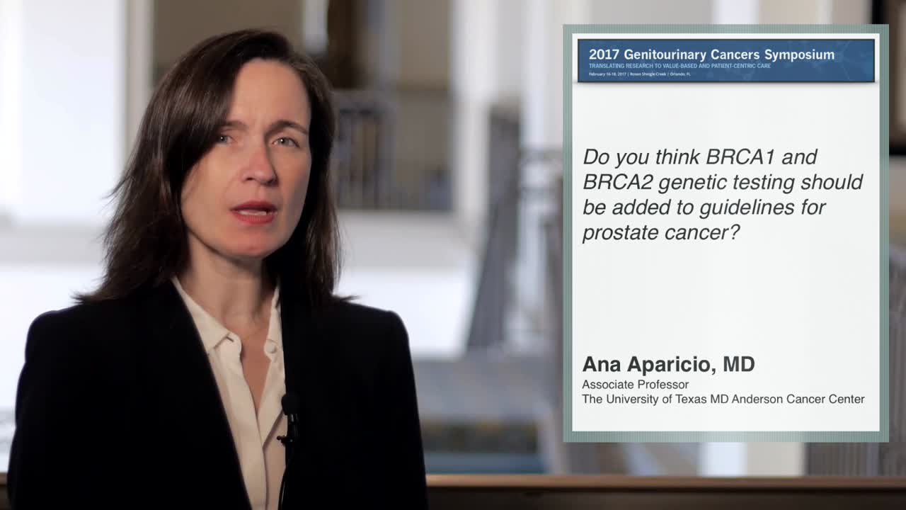 Should BRCA1 and BRCA2 Genetic Testing Be Added to Guidelines for Prostate Cancer