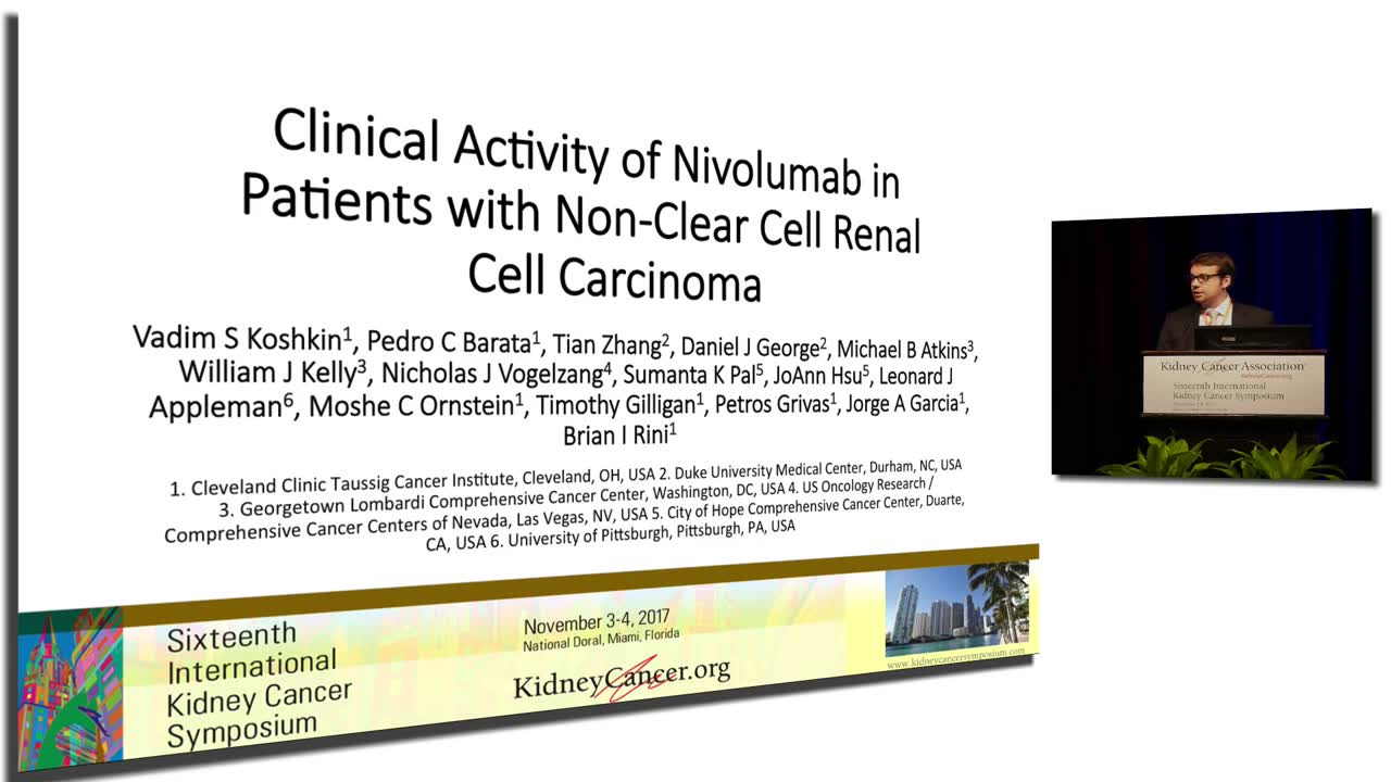 Clinical Activity of Nivolumab in Patients with Non-Clear Cell Renal Cell Carcinoma