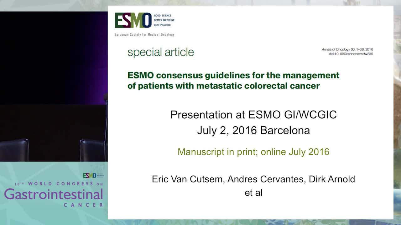 Controversy Debate 4: Treatment algorithms in metastatic CRC - ESMO guidelines