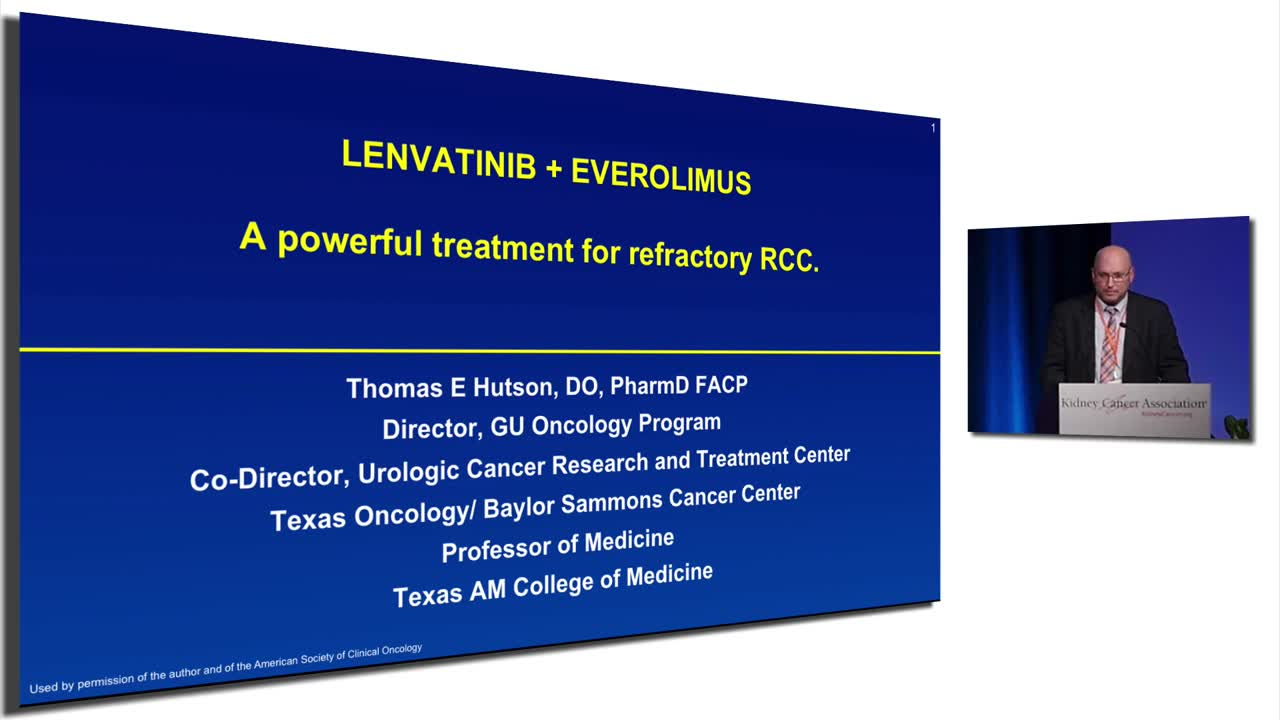 LENVATINIB + EVEROLIMUS  A powerful treatment for refractory RCC.