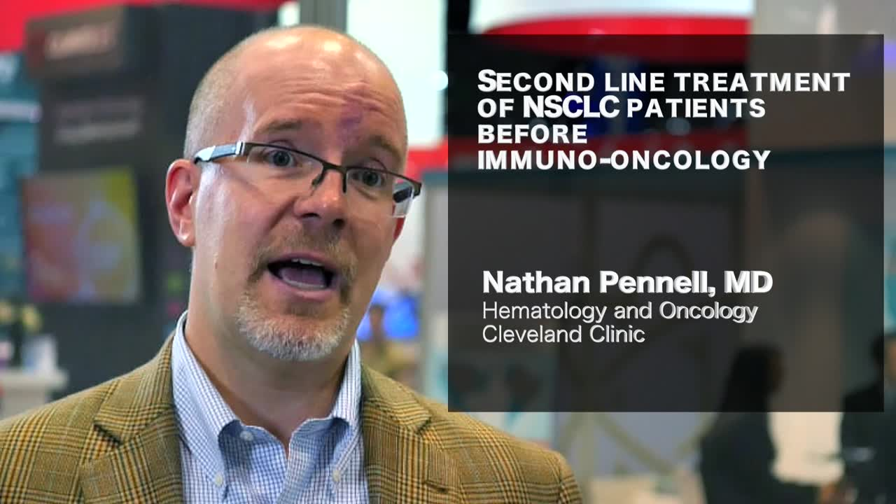 Second line treatment of NSCLC patients before immuno-oncology