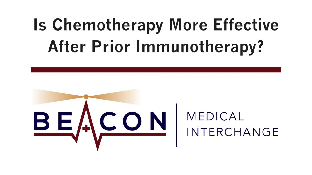 Is Chemotherapy More Effective After Prior Immunotherapy? (BMIC-029)