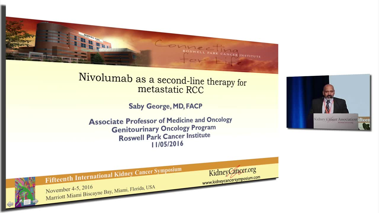 Nivolumab as a second-line therapy for metastatic RCC