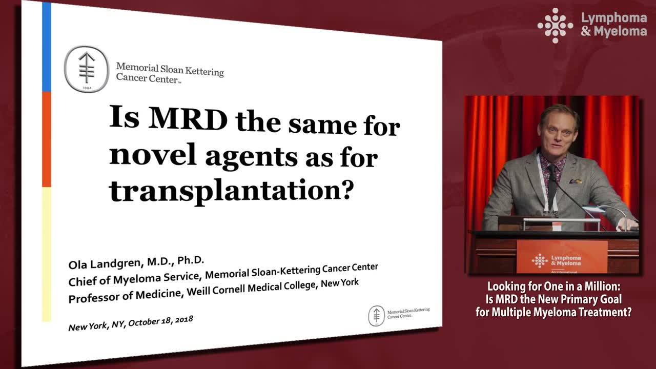 DEBATE: Is MRD the new primary goal for multiple myeloma treatment? - Yes