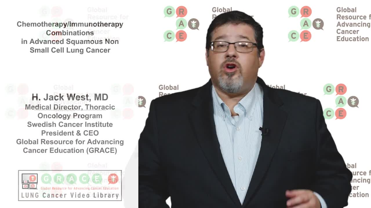 Lung Cancer Video Library - Chemo Immuno Therapy Combinations in Advanced Squamous NSCLC