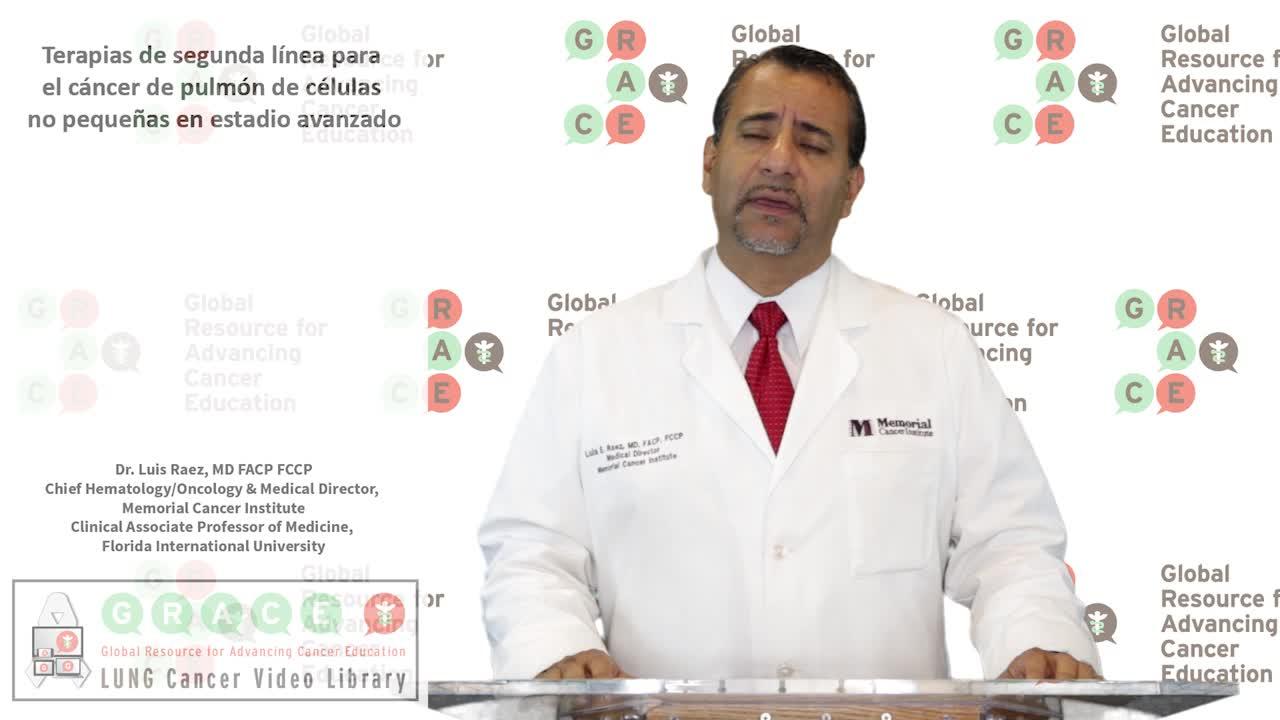 Terapias de segunda línea para el cancer de pulmón de células no pequeñas en estadio avanzado