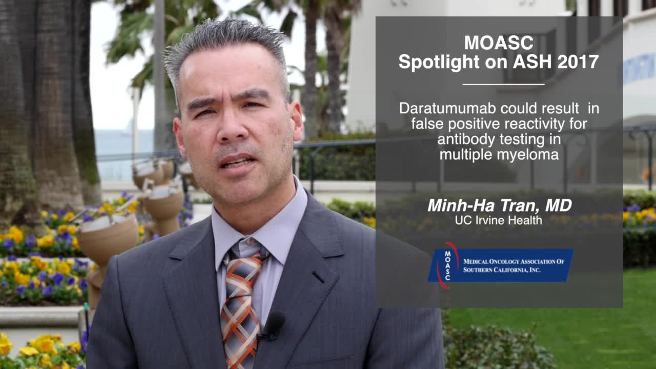 Daratumumab could result in false positive reactivity for antibody testing in multiple myeloma