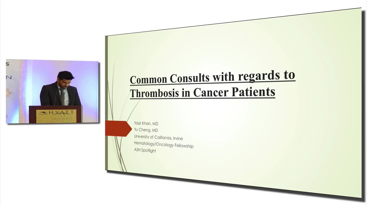 Common Consults with regards to Thrombosis in Cancer Patients