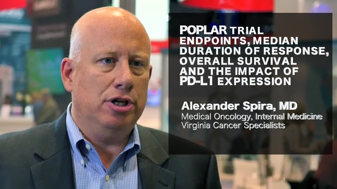 POPLAR trial endpoints median duration of response overall survival and the impact of PD-L1 expression