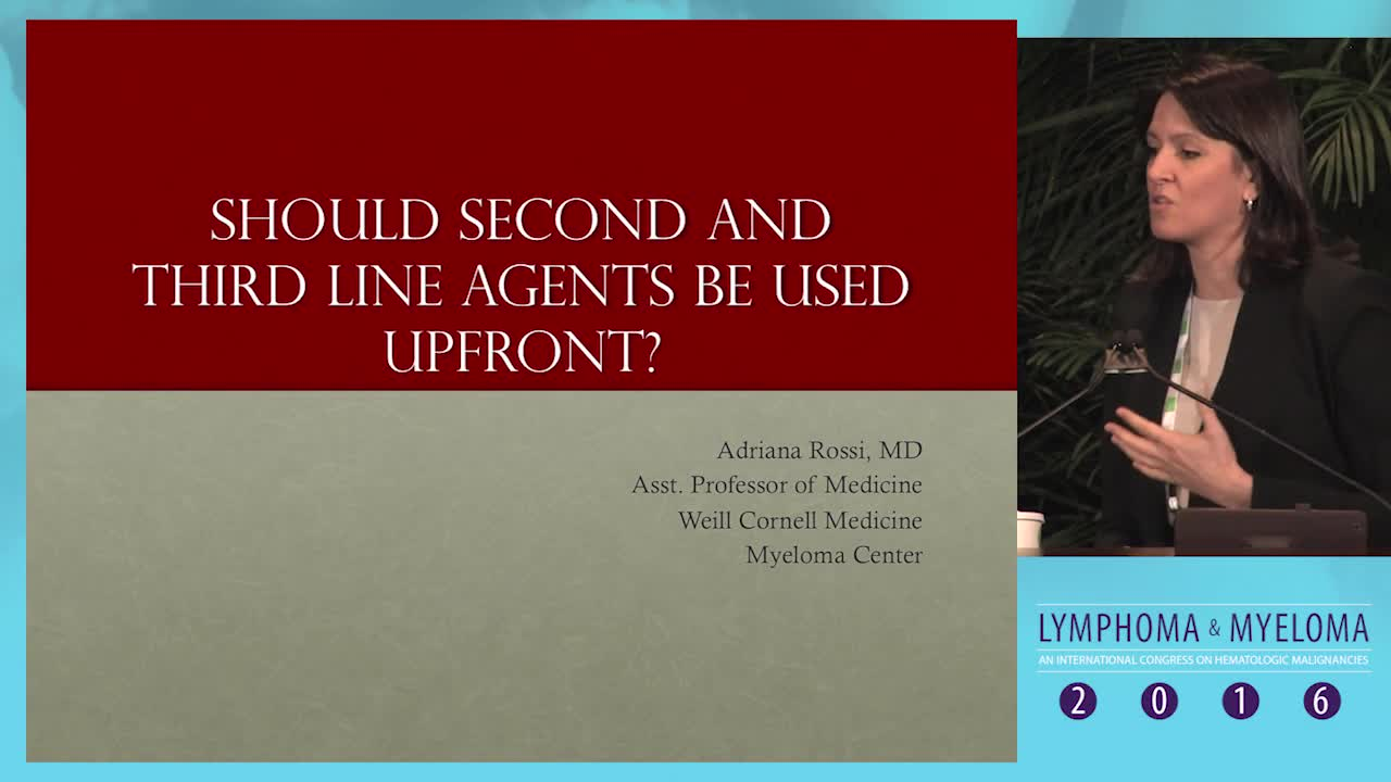 Combinations of myeloma: Should second and third line agents be used upfront?