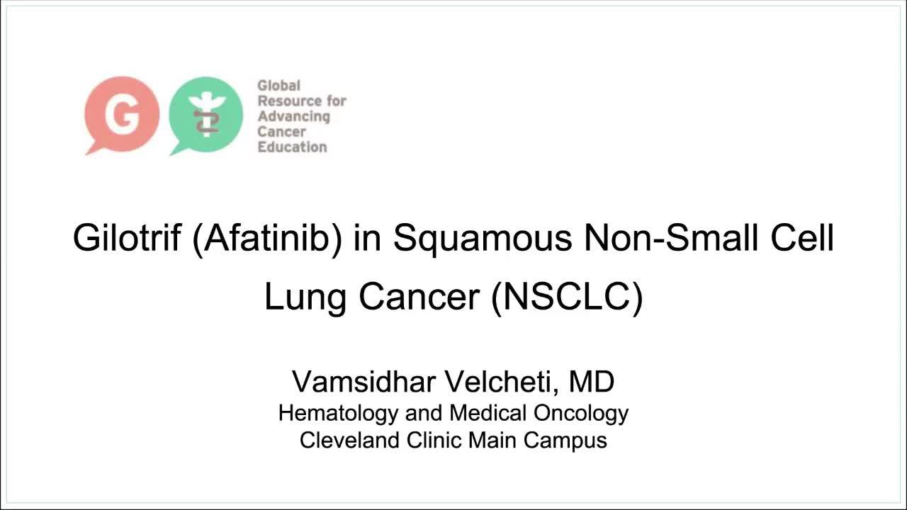 Velcheti Gilotrif Afatinib in Squamous NSCLC