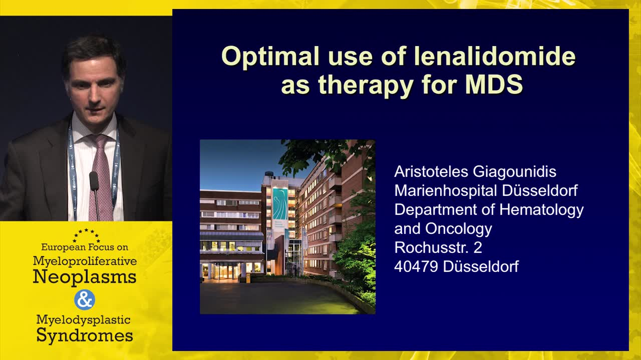 Optimal use of lenalidomide as therapy for MDS