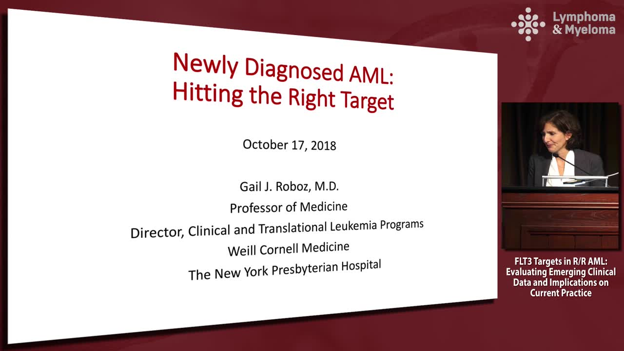 Newly diagnosed AML: Hitting the right target