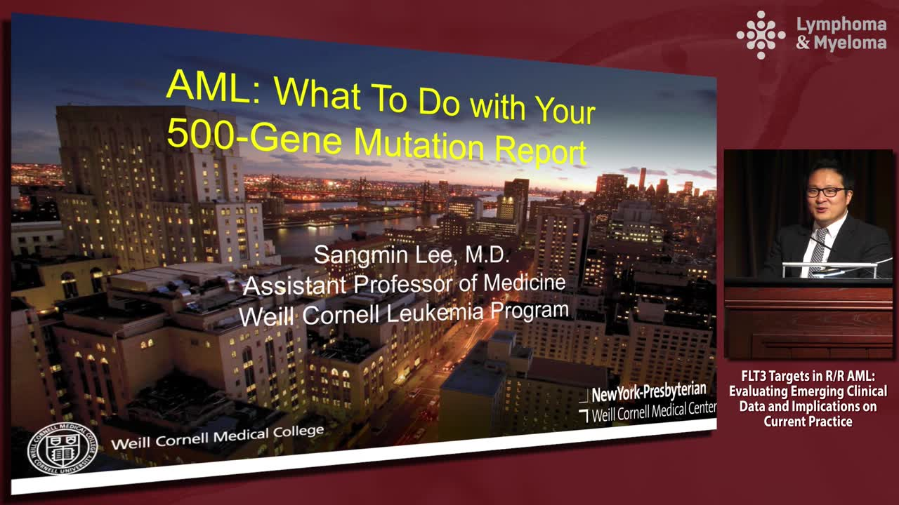 AML: What to do with your 500-gene mutation report