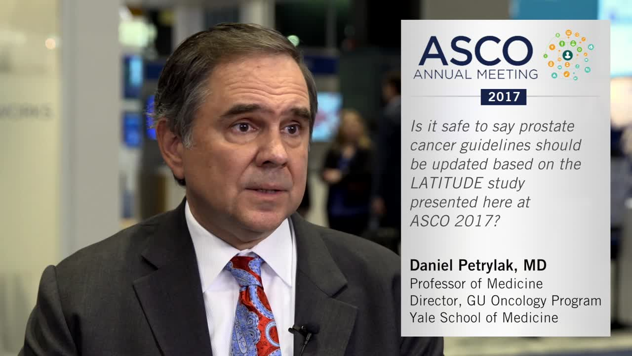 Should prostate cancer guidelines be updated based on the LATITUDE study?