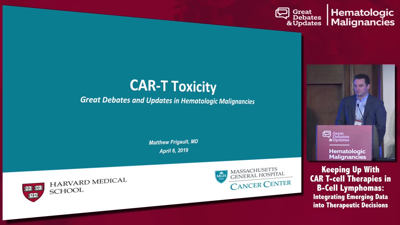 CAR-T: Management of Cytokine Release Syndrome and Neurotoxicity
